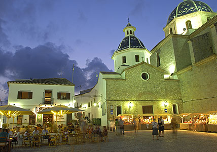 Image from the Costa Blanca Plaza in Altea