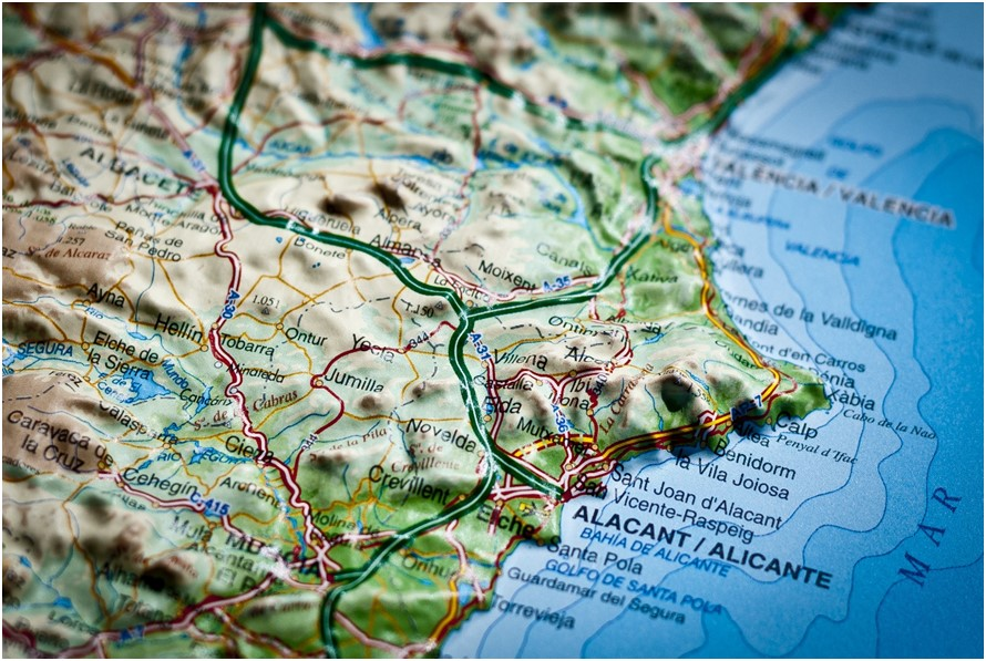 3D Map of the Costa Blanca