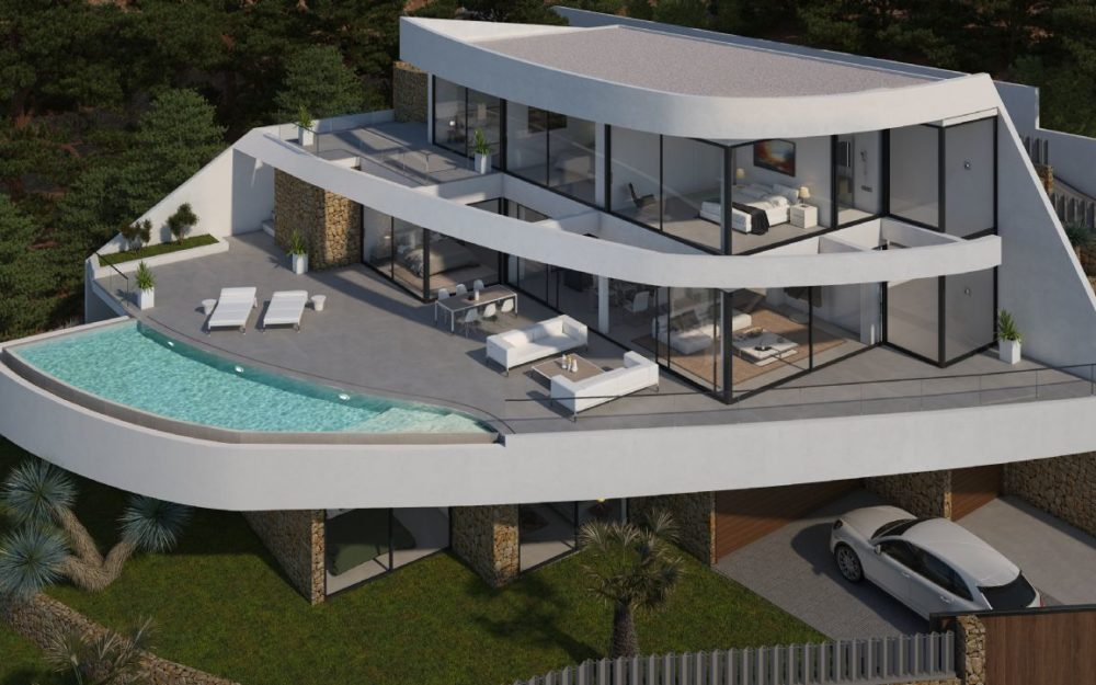 Spectacular modern villa under construction in Altea