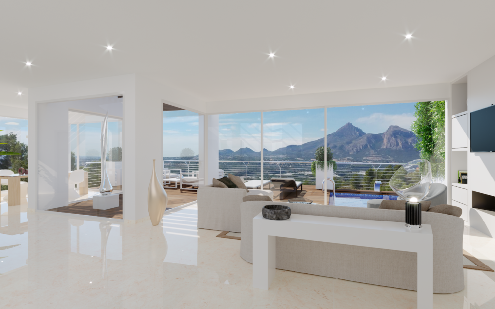 New modern Villa in Sierra de Altea with seaviews for sale